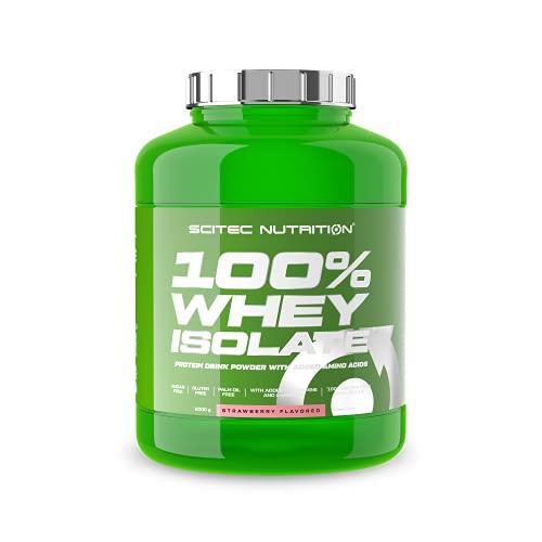 Scitec Nutrition 100% Whey Isolate con l'aggiunta di L-Glutammina extra, 2 kg, Fragola