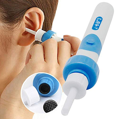 Ohrenreiniger,Elektrische Ohrwachsentferner,Ear Wax Cleaner,Sicherer Ohrenschmalz Entferner Mit 2 entfernbaren Soft Silikon Aufsatzen für Kleinkinder, Jugendliche Erwachsene, Baby
