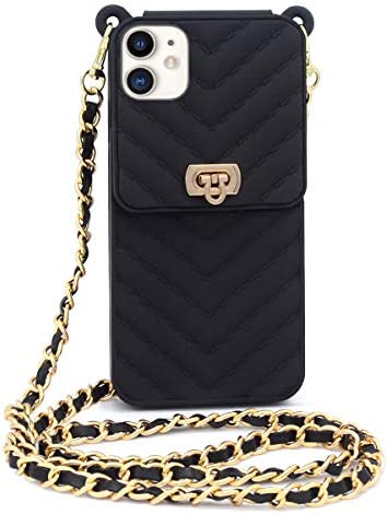 Fusicase for iPhone 11 Wallet Case with Neck Strap Crossbody Strap Lanyard Handbag Wrist Strap product image