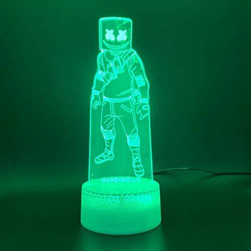 Zhuhuimin Royal Battle Royale Marshmallow Skin Bild führt Kinder Familie Dekoration Kinderspiele 3D Lichter Marshmallow Novel Night Lights