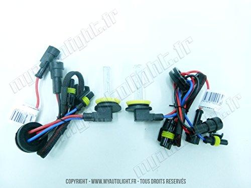 2 ampoules H11 8000K 35W de rechange pour Kit Xénon HID