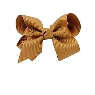 "Rzctukltd 1PCS 6"" Big Handmade Bow Hair Clip Alligator Clips Girls Ribbon Kids Sides (Caramel):Interoot"