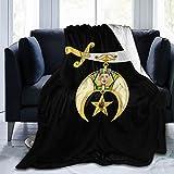 Aioxbz Shriner Blanket Soft Warm Comfortable Plush Throw Couch Living Room Bedroom Bed Fleece Blanket 50'X40'