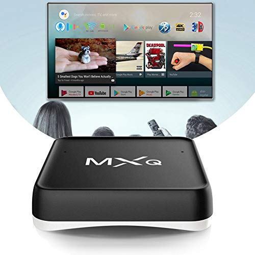 NZYMD Smart TV Box Android 7.1 Diálogo de Voz Inteligente Android TV Box AML S905X 2GB RAM 16GB ROM con 3D 4K HDR H.265 5G/2.4G WiFi Bluetooth 4.0 Ethernet 10/100M HDMI