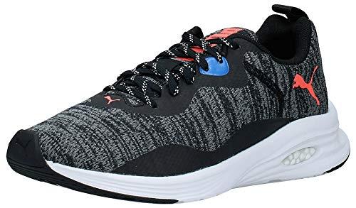 PUMA Herren Hybrid Fuego Knit Sneaker, Schwarz Black-Lava Blast-Palace Blue, 45 EU