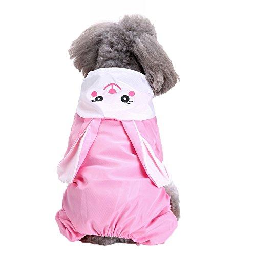 Giacca Cappotto Impermeabile Cappotto per Cani,BYSTE Impermeabile con Cappuccio e Foro per Colletto e Strisce Riflettenti protettive, Ultraleggero e Impermeabile