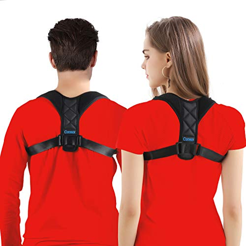 Comezy Back Posture Corrector for Women & Men - Powerful Magic Stickers Adjustable Clavicle Back Brace - Providing Pain Relief from Neck, Back and Shoulder(Universal)