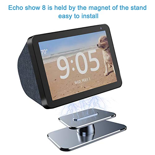 Echo Show 8 Stand,VMEI Metal Stand for Echo Show 8,Tilt Echo Show 8 Screen Up and Down,All Made of Metal, Without Any Plastic.(Gray)
