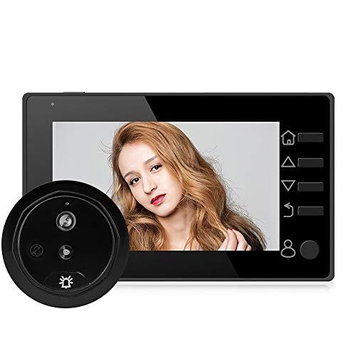 FCHMY 4.3 Pulgadas LCD Videoportero Intercomunicador 140° Súper Gran Angular Visión Nocturna por Infrarrojos Monitoreo En Tiempo Real Adecuado para Apartamentos Residenciales Seguridad
