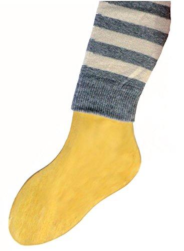 Shimasocks Baby Kinder Öko Legging Bio Baumwolle, Größe:50/56, Farben alle:graumeliert/rohweiß