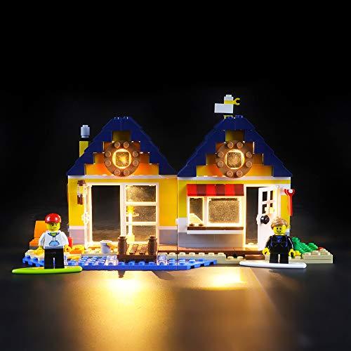 BRIKSMAX Led Beleuchtungsset für Lego Creator Strandhütte,Kompatibel Mit Lego 31035 Bausteinen Modell - Ohne Lego Set