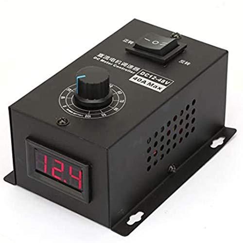 DCモータースピードコントローラー、スピードコントロールモジュール電気コントローラー1200W 25KHZ、PWM 12V-48V 40Aブラシモーターガバナー