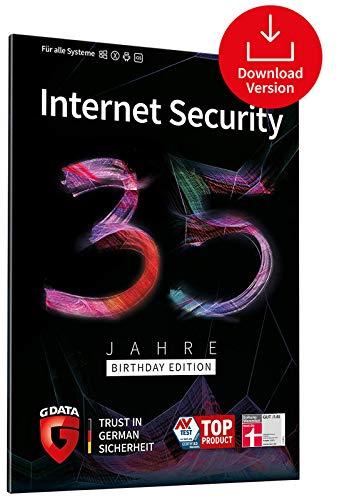 G DATA Internet Security 35 Jahre Sonderedition: 5 Geräte, 1 Jahr - Digitaler Download | Kompatibel mit Windows, Mac, Android und iOS - zukünftige Updates inklusive