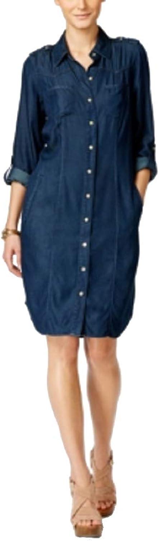 INC International Concepts ButtonDown Shirt Dress