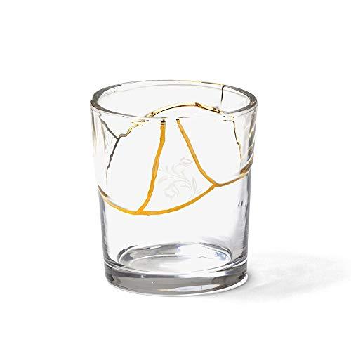 SELETTI 'KINTSUGI Collezione Piatti Ispirata dalla Tecnica Giapponese, Bicchiere 09658