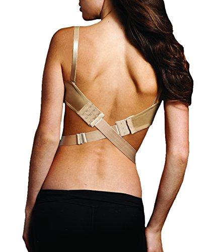 Maidenform Women's Plus Size Low Back Bra Converter, Nude