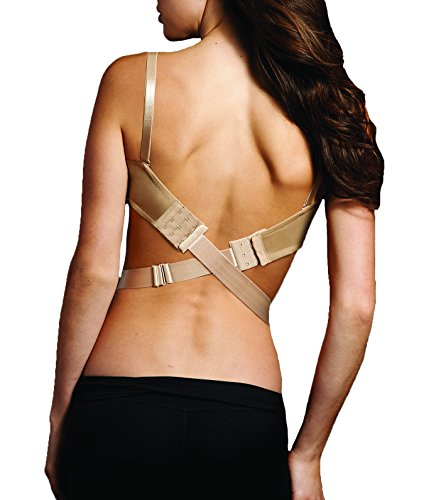 Maidenform Women's Low Back Bra Converter, Nude, One Size