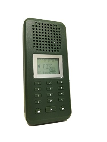 Llamador de aves de caza de exterior, reproductor de MP3 de 20W, altavoz de 126dB, pantalla LCD recargable