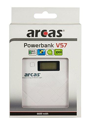 Arcas V57 USB Power Bank geeignet für (Smartphone/Tablet) 6,600mAh