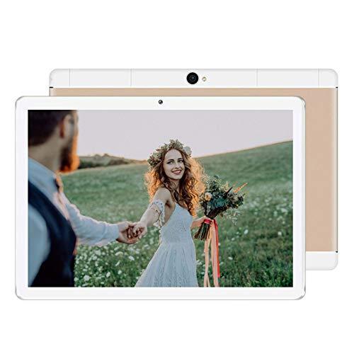 LORIEL Tableta De 10 Pulgadas De Alta Definición, 800 * 1280 Pantalla Grande / 3G Tarjeta Dual SIM + WiFi Tablet De Aprendizaje para Niños, Adecuado para El Hogar/Oficina,Oro