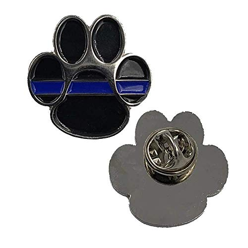 CL5-003 K9 Thin Blue Line Canine Lapel Pin