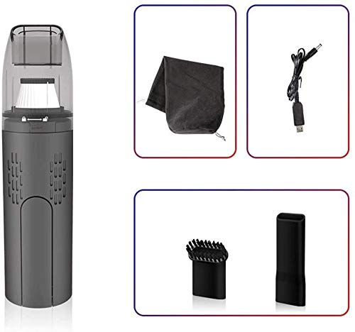 Car Stofzuiger Wireless Nat droog te gebruiken Stofzuiger for auto Huishoudelijk Kantoor Stofzuiger-Hand-held stofzuiger (Maat: Grijs) zhihao (Size : Grey)