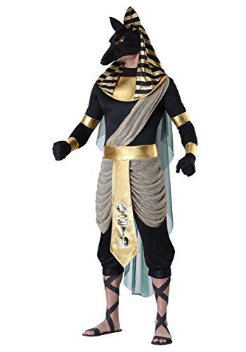 Disfraz de Anubis para adulto para hombre, de la antigua Deidad egipcia -  Negro -  X-Small