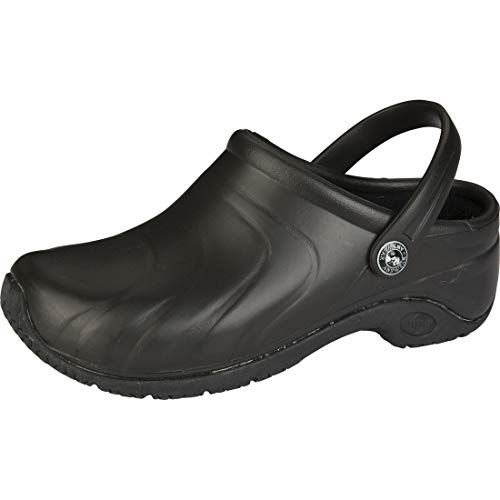 Anywear Zone Women's Healthcare Professional Injected Clog with Backstrap, 9, Black