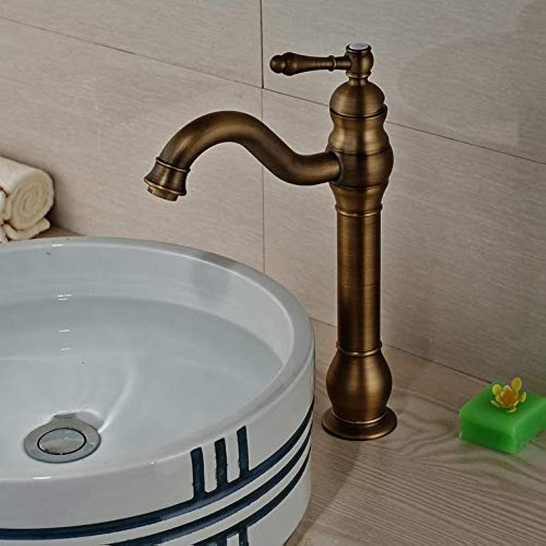 Wasserhahn Luxus Messing Retro-Stil Becken Wasserhahn Deck Mount Einhand-Waschtisch-Mischbatterien
