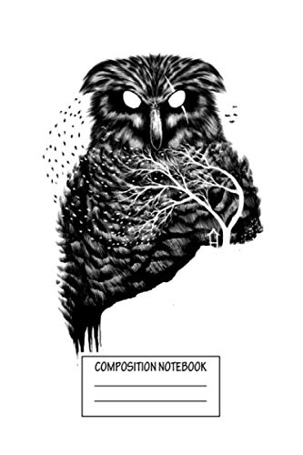 Composition Notebook: 80s Autumn Owl Animals Wide Ruled Note Book, Diary, Planner, Journal for Writing