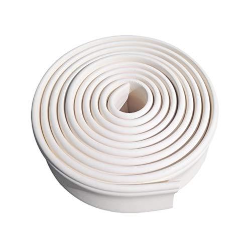 Vosarea Heimtextilien Modellieren Kronenleisten Zierleisten Flexible Formteile Deckenumrandung Innendekoration Wandkantenschutz (Weiß Länge 5 Meter Breite 3Cm)