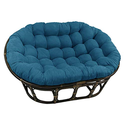 Blazing Needles 78-inch Microsuede Double Papasan Cushion Teal