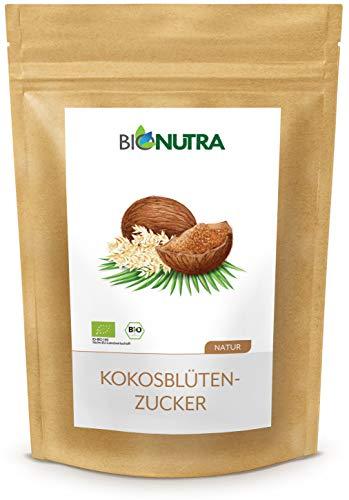 BioNutra® Sucre de fleur de noix de coco Bio 1500 g, sucre de coco, non raffiné, sucre de fleur naturel issu de culture biologique contrôlée