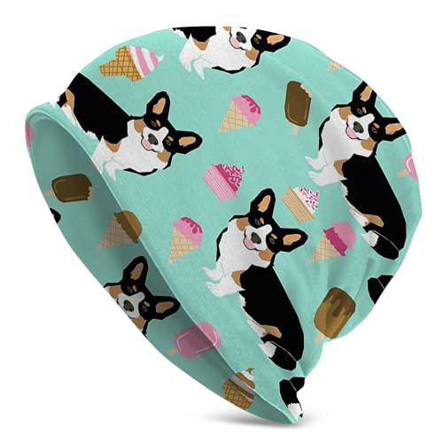 Jimbseo Corgi Cute Tri Color Secado Rápido Elástico Caliente Al Aire Libre Beanie Sombrero Hombres Mujeres
