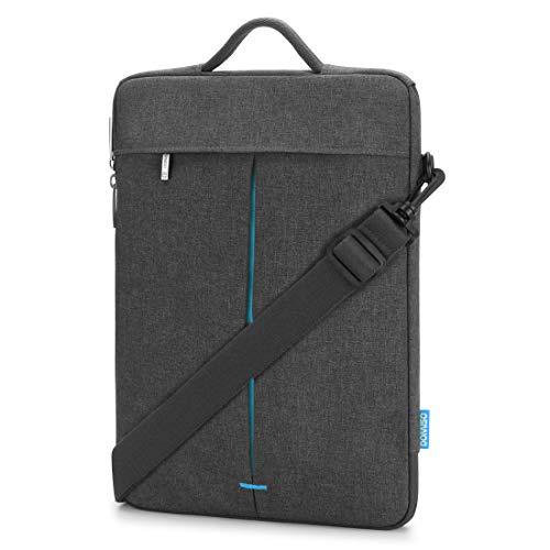 DOMISO Laptop-Hülle für 33 - 33,8 cm (13 - 13,3 Zoll), wasserabweisend, mit abnehmbarem Riemen, Blau