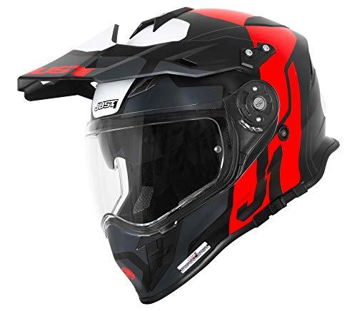 Just1 J34 Pro Tour Casco motocross Nero opaco/Rosso
