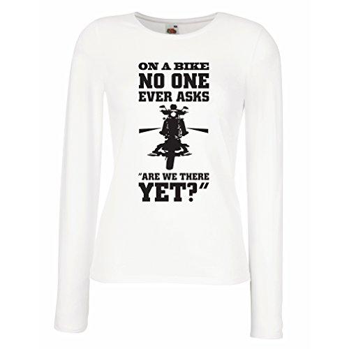 lepni.me Camisetas de Manga Larga para Mujer Famosas Citas de Motocicletas, Regalos para los Amantes de Las Motos, Humor de Motociclistas (XX-Large Blanco Multicolor)