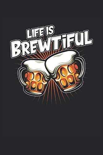 La vita è Brewul Beer Lover: Ricettario cocktail Taccuino 120 pagine per baristi, baristi, camerieri, baristi