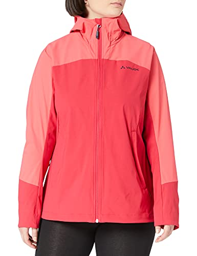 VAUDE Women's Skarvan Softshell Jacket II, Cappotto Donna, Rosso (Cranberry 993), One Size (Taglia Unica: 38)
