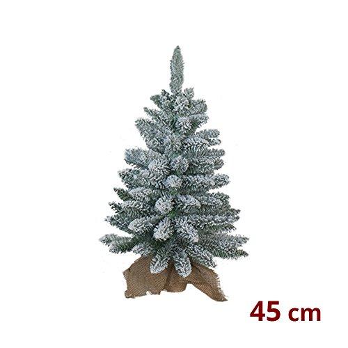 We Love Christmas PINETTO di Natale INNEVATO con Base in Juta 45 CM