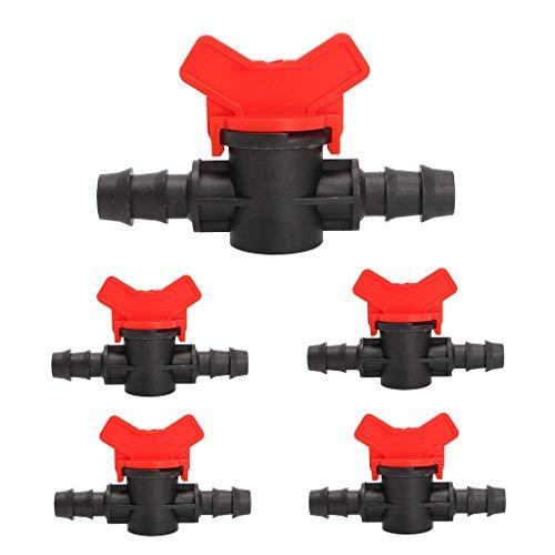 Bingmax boquilla de pulverización aspersor nueva venta 5 unids 16mm Acoplamiento tubo riego manguera agua interruptor válvula de plástico