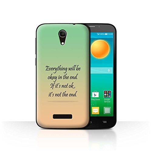 Stuff4 Phone Case/Cover/Skin/ALC-CC/Schaatten-ABST Collection Alcatel Pop S7 Citation J. Lennon