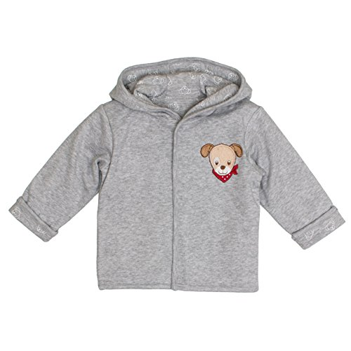 SALT AND PEPPER Salt & Pepper Baby-Jungen BG Jacket Allover reves. Jacke, Grau (Grey Melange 212), 62