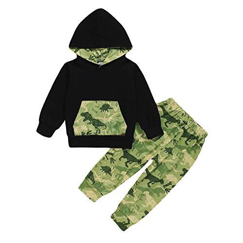 1-6 Jahre Kid Boy Camouflage Dinosaurier Trainingsanzug Langarm Sweatshirt Hoodie Hosen Outfits Set