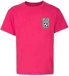 USA Soccer Apparel Retro National Team Jersey Youth Kids Girl Boy T-Shirt
