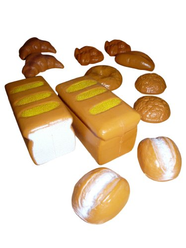 Zestaw zabawek piekarniczych, A103, 12-częściowy zestaw do sklepów handlowych - chleb, bułki, ciasta, pyszne wypieki, pomysł na prezent dla chłopców i dziewczynek na Boże Narodzenie i urodziny, prezent urodzinowy