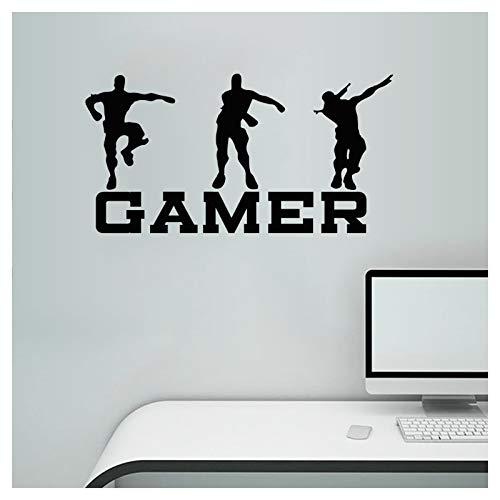 Pegatinas de pared de gamer, pegatinas de pared de juegos, pegatinas de vinilo, diseño de jugadores, decoración de pared para adolescentes, niños, dormitorio, decoración del hogar, papel pintado