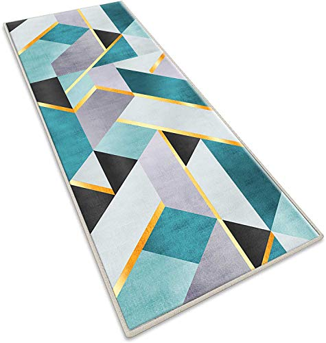 AIYOUVM Teppich Läufer Flur Bunt 120x350cm Modern Teppichlauf Meterwar geeignet als Schlafzimmerteppich Home Decor