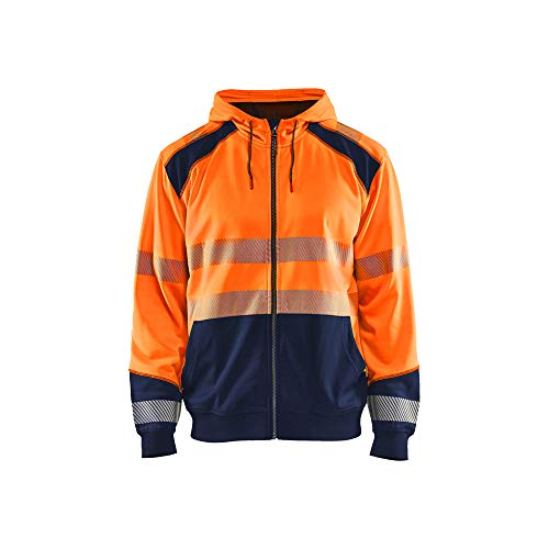 Blaklader 3546252853894XL Sweat à Capuche High Vis Orange/Bleu Marine Taille 4XL