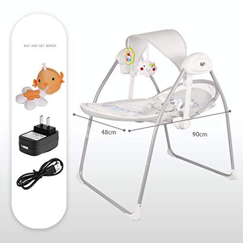 ZWQ kids Baby Bider Gliding Swing Rocker Bouncer, Berceau 'Swing Sweet Dreams', siège de Chaise pour bébé hamac, Convient au Nouveau-né,A